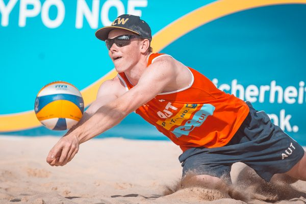 """08.06.2018, Strandbad Baden, Baden, AUT, CEV Youth Continental Cup Finale, im Bild // during CEV Youth Continental Cup Final at the """"Strandbad"""" in Baden, Austria on 2018/06/08. EXPA Pictures © 2018, PhotoCredit: EXPA/ Florian Schroetter"""