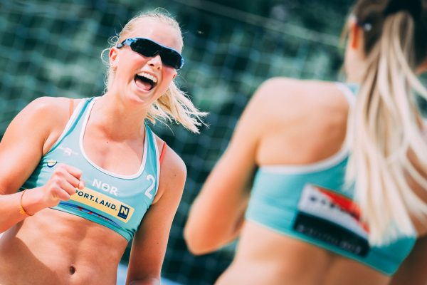 """09.06.2018, Strandbad Baden, Baden, AUT, CEV Youth Continental Cup Finale // during CEV Youth Continental Cup Final at the """"Stradbad"""" in Baden, Austria on 2018/06/09. EXPA Pictures © 2018, PhotoCredit: EXPA/ Florian Schroetter"""