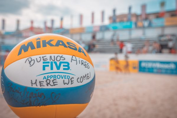 """10.06.2018, Strandbad Baden, Baden, AUT, CEV Youth Continental Cup Finale // during CEV Youth Continental Cup Final at the """"Stradbad"""" in Baden, Austria on 2018/06/10. EXPA Pictures © 2018, PhotoCredit: EXPA/ Florian Schroetter"""