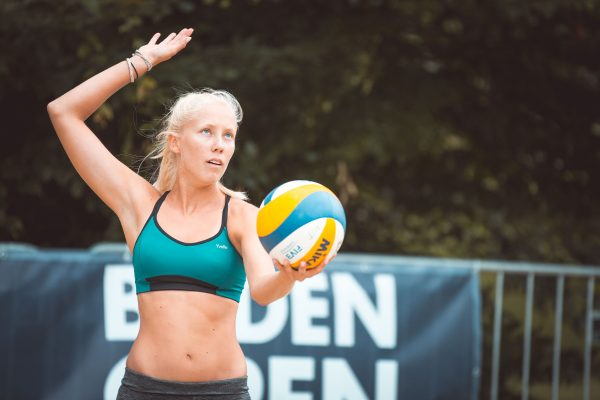 """14.06.2018, Strandbad Baden, Baden, AUT, FIVB World Tour Baden Open // during FIVB World Tour Baden Open at the """"Strandbad"""" in Baden, Austria on 2018/06/14. EXPA Pictures © 2018, PhotoCredit: EXPA/ Florian Schroetter"""