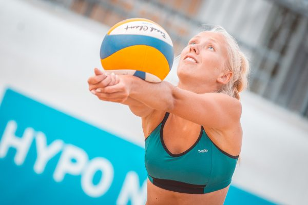 "15.06.2018, Strandbad Baden, Baden, AUT, FIVB World Tour Baden Open // during FIVB World Tour Baden Open at the ""Strandbad"" in Baden, Austria on 2018/06/15. EXPA Pictures © 2018, PhotoCredit: EXPA/ Florian Schroetter"